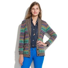 Color Track Cardigan - cardigans - Women's SWEATERS - Madewell