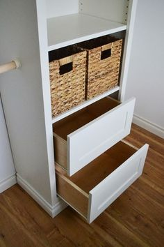 Owner Building a Home: The Momplex | Drawers for Closet Tower