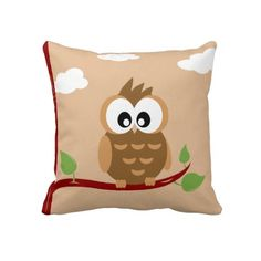 Cute Owl Throw Pillow.  $59.95