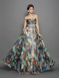 floral 2015 prom dresses for party & evening #dylanqueen