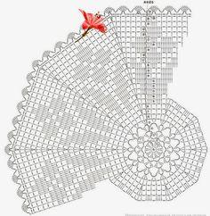 Crochet Patterns Filet, Crochet Doily Diagram, Crochet World, Crochet Mandala, Tunisian Crochet, Doily Patterns, Crochet Chart, Filet Crochet, Crochet Doilies