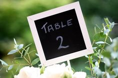 blackboard wedding table numbers | available from www.thewed… | Flickr