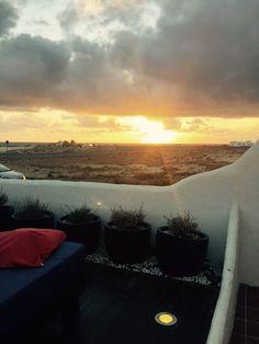 Sonnenuntergang am Restaurant Azzurro, El Cotillo