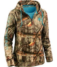 Ladies Camo Power ½ Zip Hoodie at Legendary Whitetails