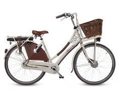 Sparta Country Tour Electric - elektrische transportfiets.  Trendy, elektrische omafiets in landelijke stijl.