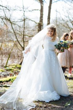 Lace Tulle Pronovias Gown Best Bride Bridal Sleeves Veil Enchanted English Country Garden Wedding Disney