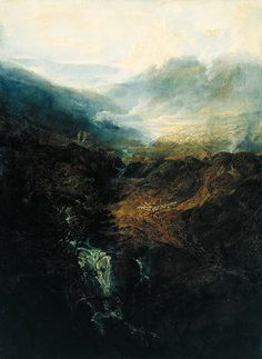 J.M.W. turner - morning amongst the coniston falls, cumberland, 1798