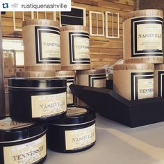 #Repost @rustiquenashville  Restocked on the bestselling @southernfireflycandle Nashville and Tennessee candles! 14oz and tins available. #rustiquenashville #nashville #eastnashville #fatherlandstreet #southernfireflycandle #candles #nashvillecandles