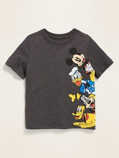 Old Navy Toddler Boys' Disney© Mickey Mouse & Friends Tee Dark Heather Gray Regular Size Disney Boys, Disney Shirts For Family, Shirts For Teens, Boys T Shirts, Disney Mickey, Toddler Boy Fashion, Toddler Boys, Baby Boy Outfits, Kids Outfits