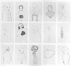 <i>Group #8</i> 1994 Graphite on paper, set of 15 drawings 30.5 x 33.5 inches