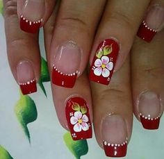 Cute Acrylic Nails, Cute Nails, Pretty Nails, Toe Nail Designs, Nail Polish Designs, Floral Nail Art, Beautiful Nail Designs, Flower Nails, Gorgeous Nails