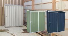 小型のオシャレな収納庫「木製床用セット:ユーロ物置1508K1」屋外の設置に便利な木製床付き|エクステリア用品通販のジューシーガーデン
