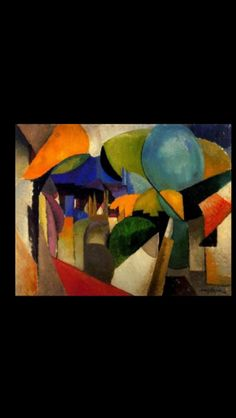 "Albert Gleizes - ""Landscape near Montreuil"", 1914 - Oil on canvas - 73 x 92 cm"