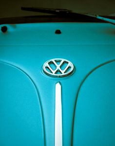 Volkswagen Art Beetle German Car  Turquoise  by Squintphotography, $50.00