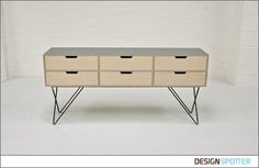 From Jo Wilton and Mirka Grohn (United Kingdom): Leonard Sideboard. Plywood sideboard with Formica top and zig zag steel metal legs. www.andnew.co.uk