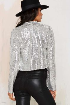 All That Sparkles Sequin Jacket