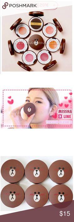 Missha x Line Cushion Blush Shade in CR01, peach missha Makeup Blush