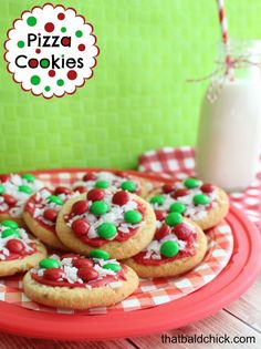 Make your own Pizza Cookies! Recipe at thatbaldchick.com