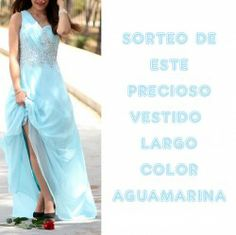 #Vestido largo color aguaMarina ^_^ http://www.pintalabios.info/es/sorteos_de_moda/view/es/3451 #ESP #Sorteo #Moda
