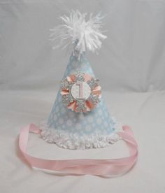 Snowflake Party Hat 1st Birthday Winter by CardsandMoorebyTerri, $13.00