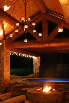 This romantic outdoor space will light up your night!