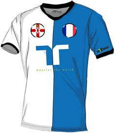 Nordirland - Frankreich l Northern Ireland - France kurzarm Trikot mit Wunschnamen und Wunschnummer