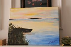 "Acrylic paint. ""Sunset"""
