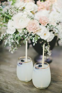 Lemonade cocktails: http://www.stylemepretty.com/california-weddings/malibu/2015/06/25/romantic-blush-wedding-at-calamigos-ranch/ | Photography: Onelove - http://www.onelove-photo.com/