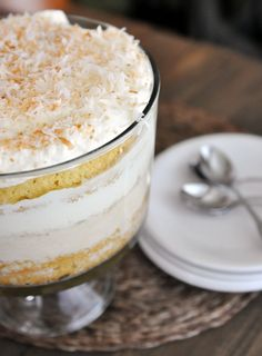 Mel's Kitchen Cafe   Coconut Tres Leches Cake Trifle