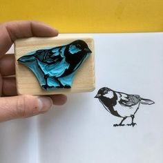 image 0 Great Tit, Grave, Origami Box, Hand Carved, Carved Wood, Album Photo, Tampons, Zipper Bags, Notebooks