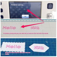 In ScanNCut Canvas when you choose your colour properties, there are options to choose cut lines and draw lines for your projects. You can see here that the photo top left shows the scollop shape s...