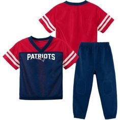 NFL New England Patriots Toddler Short Sleeve Top and Pant Set, Toddler Girl's, Size: 18M, Blue