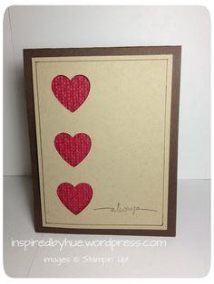 Stampin' UP! Hearts A Flutter Framelits | Inspired By Hue