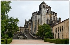 The Convento de Cristo in Tomar, Portugal. Founded by the Knights Templar 12th century.