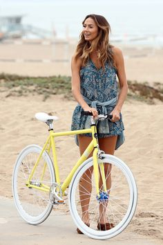Stacy Keibler bike riding 07/12/2013