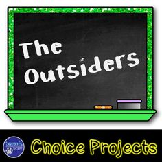 The Outsiders Choice Projects Middle School Novels, Reading Projects, Eighth Grade, Reading Lists, Special Education, Big Kids, Assessment, The Outsiders, Choices
