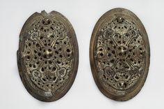 Oval brooches Bronze, white-metal. Björkö, Adelsö, Uppland, Sweden. SHM 474:5a. In the Historiska Museet, Stockholm.