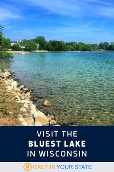 This spring-fed, crystal clear lake in Wisconsin is one of the states cleanest, deepest, and prettiest. It's perfect for summer fun including kayaking, swimming, fishing, and tubing. Rv Travel, Summer Travel, Summer Fun, Places To Travel, Travel Destinations, Best Bucket List, Elkhart Lake, Usa Trip, Hidden Beach