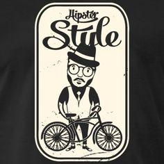 HIPSTER, FAHRRAD, GESCHENKIDEE, T-SHIRT, MTB - Männer Premium T-Shirt