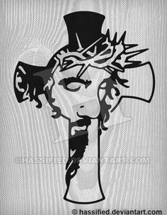 Jesus Cross, easy weed versionAll Works Created and Copyrighted by Scott Hassler a. HassifiedThis design is a fully editable vector illustration suitable fo Jesus Drawings, Art Drawings, Cross Drawing, Wood Burning Art, Jesus On The Cross, Scroll Saw Patterns, Cross Tattoo Designs, Art Images, Wood Art
