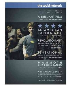 The Social Network [HM743.F33 S63 2010] Harvard student Mark Zuckerberg creates the social networking website that would become known as Facebook, but is later sued by two brothers who claimed he stole their idea, and the co-founder who was later squeezed out of the business. Director:David Fincher Writers:Aaron Sorkin (screenplay), Ben Mezrich (book) Stars:Jesse Eisenberg, Rooney Mara, Andrew Garfield