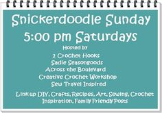 Snickerdoodle Sunday Link Party