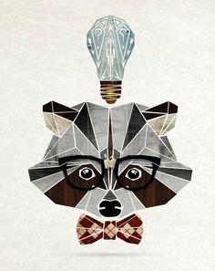 raccoon nerd by MaNoU56 on deviantART