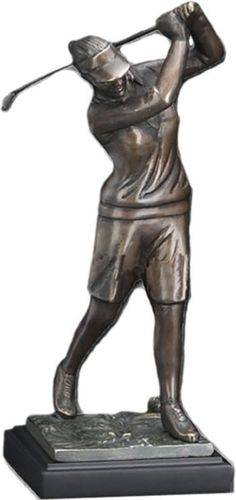 Lady Golfer Golf Statue Available At AllSculptures.com
