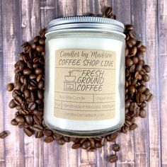 Coffee To Go, Coffee Time, Coffee Shop, Soy Wax Candles, Candle Jars, Fresh Ground Coffee, Having A Bad Day, Tool Kit, Coffee Beans