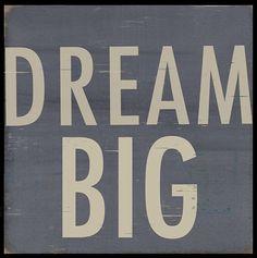 Dream big quote via www.Facebook.com/PositivityToolbox