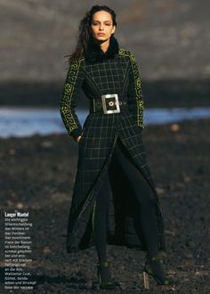 """Luma Grothe is """"Black is Black"""" for Glamour Germany September 2015 by Hans Feurer [editorial]"""