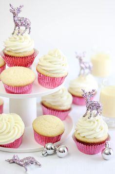 Sprinkle Bakes: Sparkling Spiked Eggnog Ganache Cupcakes