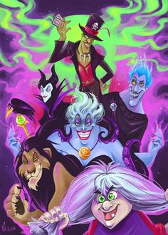 Disney Villains by NEPiYou can find Disney villains and more on our website.Disney Villains by NEPi Disney Kunst, Arte Disney, Disney Fan Art, Disney Love, Disney And Dreamworks, Disney Pixar, Disney Characters, Disney Villains Art, Disney Villian