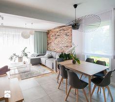 Projekt domu szeregowego - Salon, styl skandynawski - zdjęcie od Biuro…
